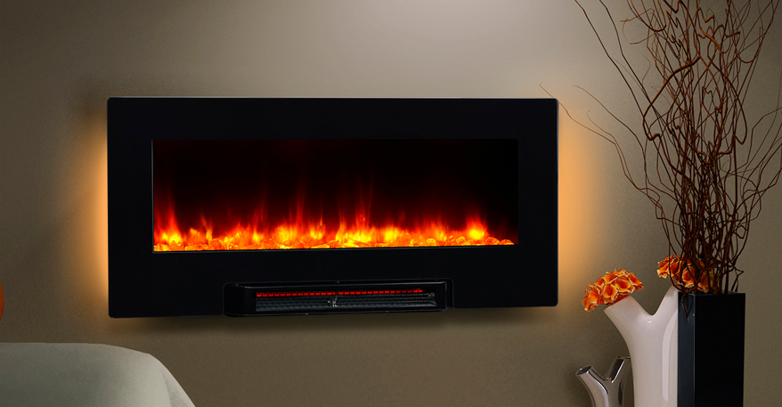 Charming Puraflame And Flat Screen Fireplace